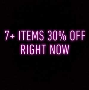 FLASH SALE 7+ 30% OFF RIGHT NOW